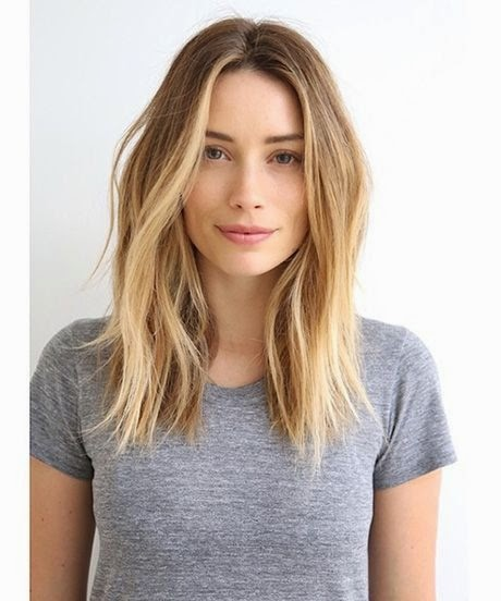hairstyle lob blonde