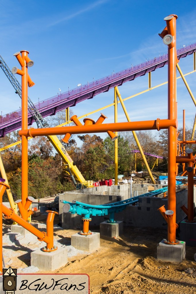 Insanity Lurks Inside Tempesto Diavolo Construction Goes Vertical At Busch Gardens Williamsburg
