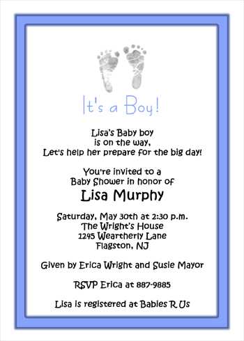 boy baby shower invitation wording image search results