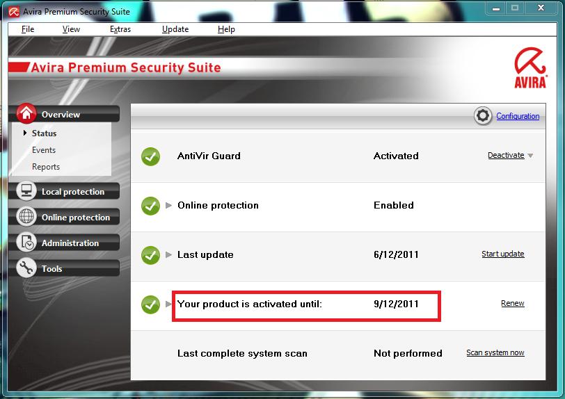Avira antivir personal free antivirus 10.2.0.696