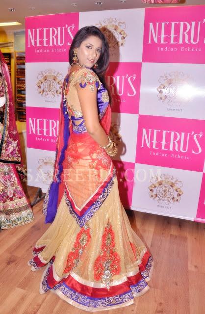 Shravya-reddy-back-designer-lehenga-style-half-saree