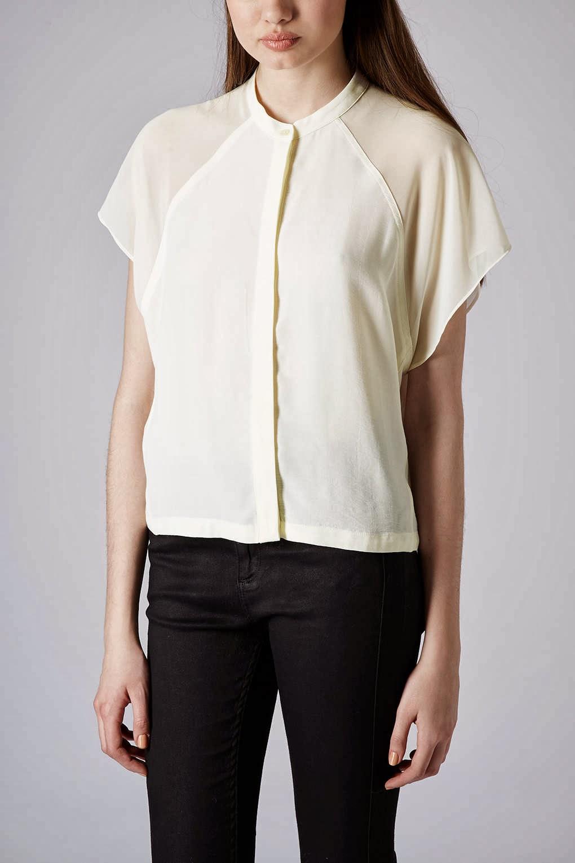 topshop cream blouse