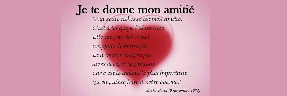 poeme pour amie
