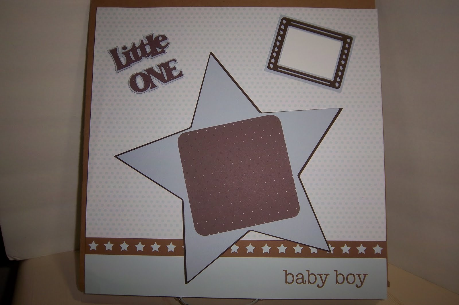 Ladyluvbug Baby Boy Scrapbook Layouts