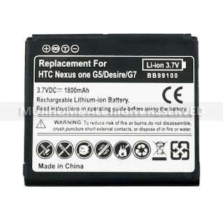 1800mAh Li-ion Battery HTC Google Nexus One Dragon Desire Bravo A8181 G5 G7