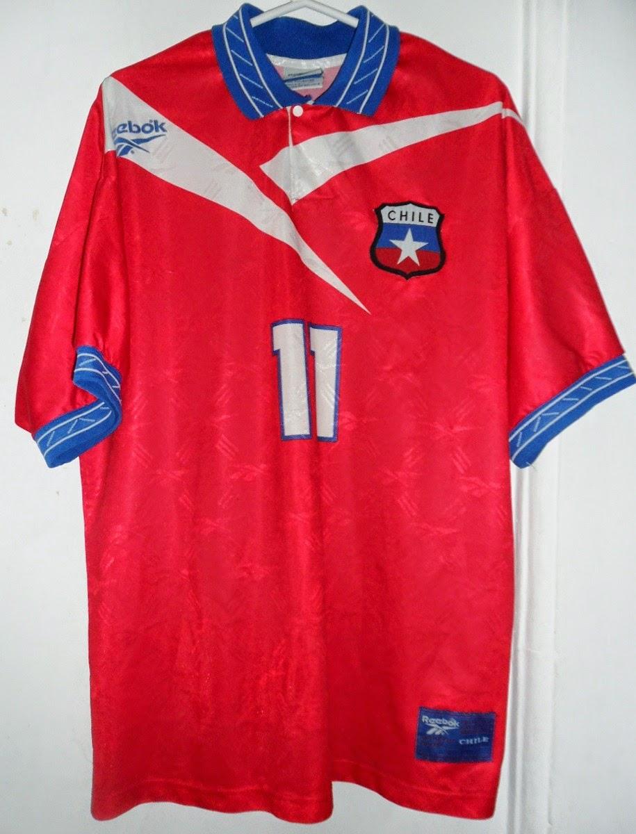 Una Camiseta por Día: Selección Chile Reebok 1997 #11 Marcelo Salas