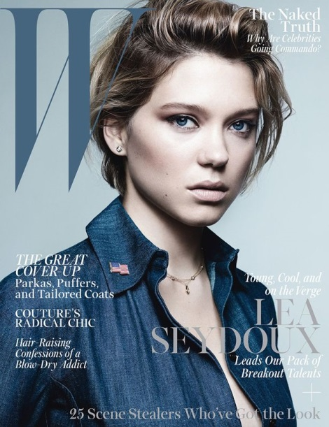 Léa Seydoux by Craig McDean for W Magazine October 2013