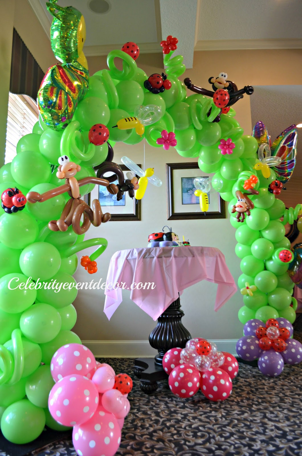 Celebrity event decor banquet hall llc for Balloon decoration for first birthday