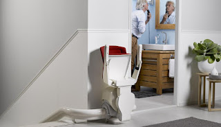 Folded stairlift seat