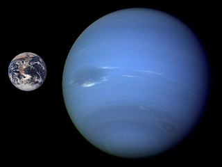 Earth compared to Neptune