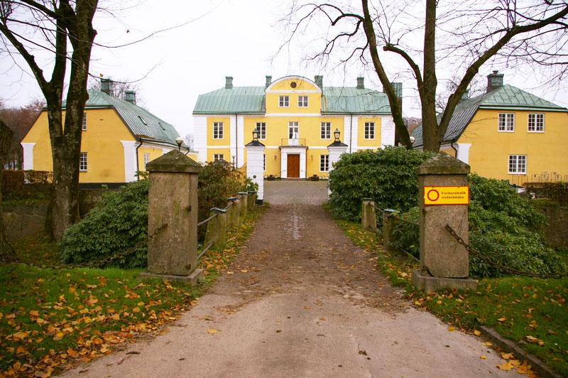 Trädgård Wapnö : Alltid rött rätt wapnö slott halmstad november