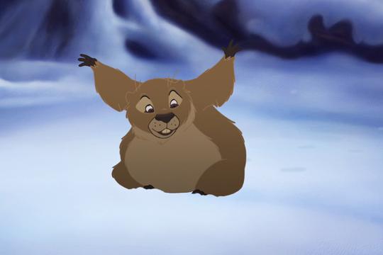 La marmota busca su sombra en Bambi, el príncipe del bosque - Cine de Escritor