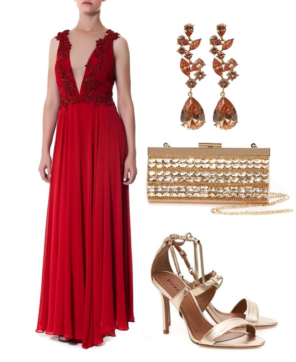 Vestido de festa vermelho - Madrinhas de casamento