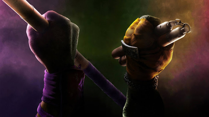 TMNT 2014 Donatello Michelangelo