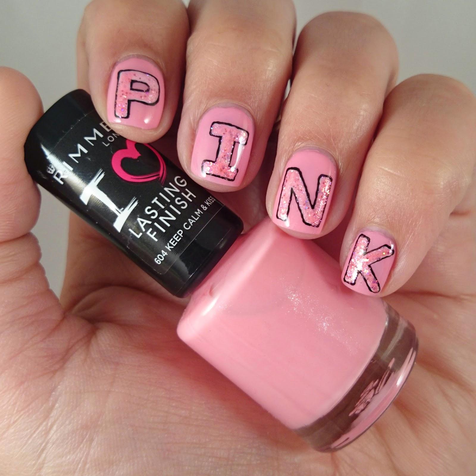 Dahlia Nails: Think Pink