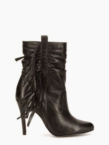bottes noires à franges San Marina