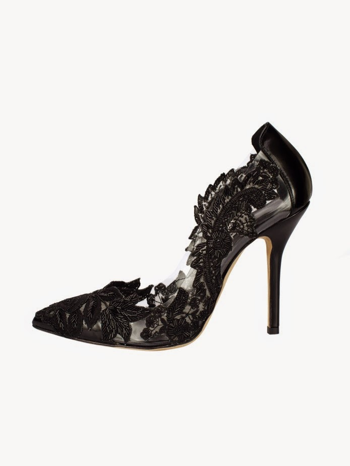 Lace Embroidery Pumps from Oscar de la Renta