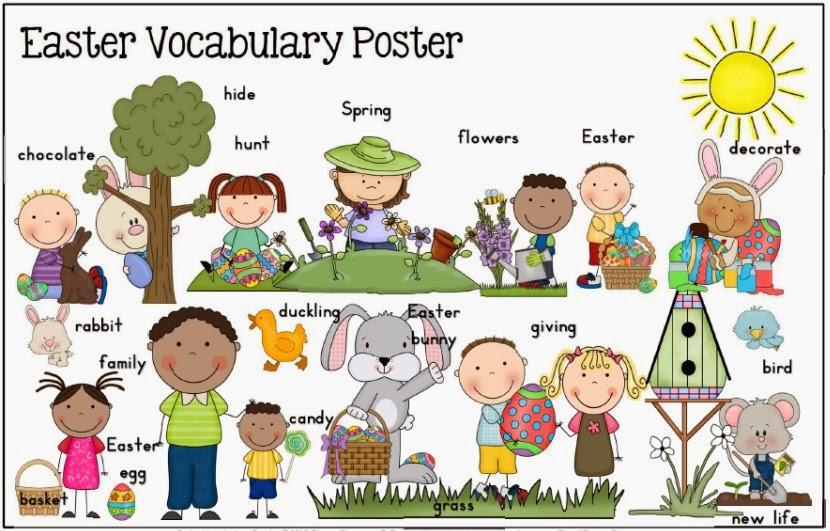 Easter ideas including Easter vocabulary resource bundle for K-1