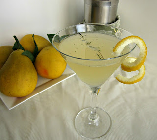 Pear, Ginger and Thyme Martini