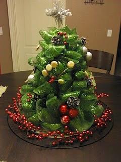 arboles navideos decorados con mallas
