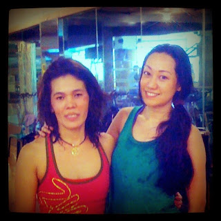 Trisha Claudine Sebastian after Zumba with Gold's Gym Zumba Instructor Marietes