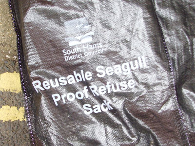 A rubbish bag designed to withstand seagull attack - by Totnesmartin at Wikimedia Commons - released by author into public domain