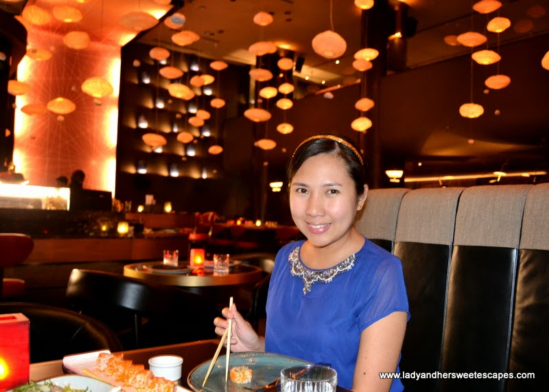 Lady at China Grill Dubai