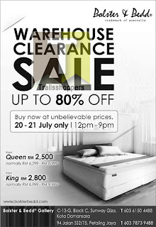 Bolster & Bedd Warehouse Clearance Sale 2013