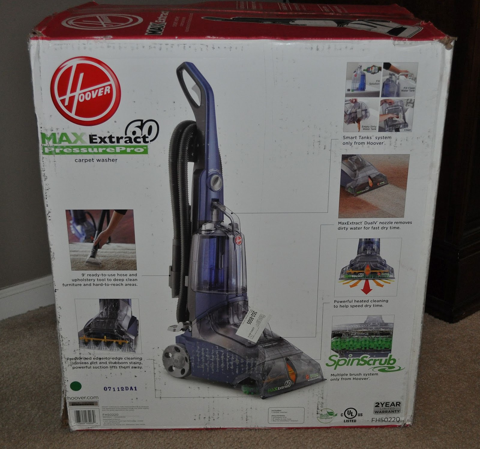 Our Homeschool Reviews Hoover MaxExtract 60 Carpet Cleaner