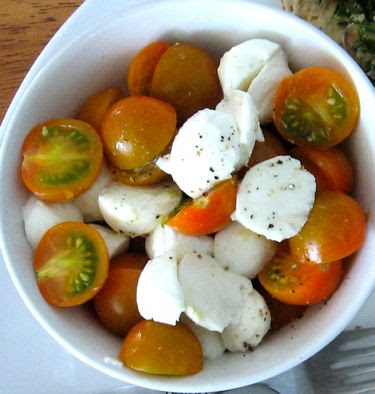 sungold tomato and bocconcini salad