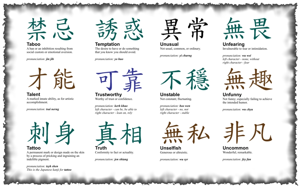 Tattoo Design Chinese Letters