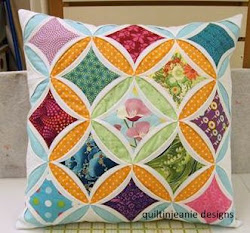 Modern Cathedral Window Pillow, Sat. Jan. 21, 2017