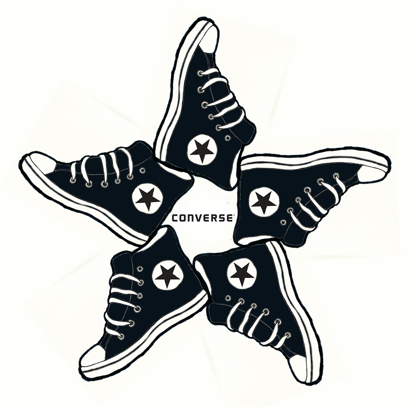 PAINTED DREAMS u0026 OTHER THINGS: CONVERSE LOGO RE-DESIGN