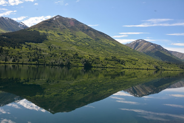 Lake Sterling Highway Alaska reflection