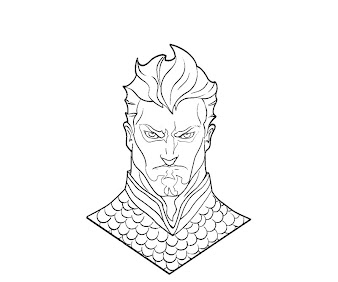 #13 Aquaman Coloring Page