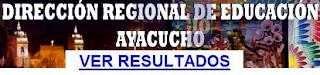 contrato de docentes 2014, Lista Resultados DRE Ayacucho 2014
