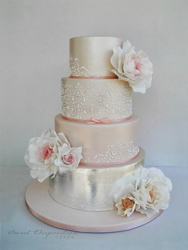 Pink And Silver Wedding Cake The Hippest Galleries