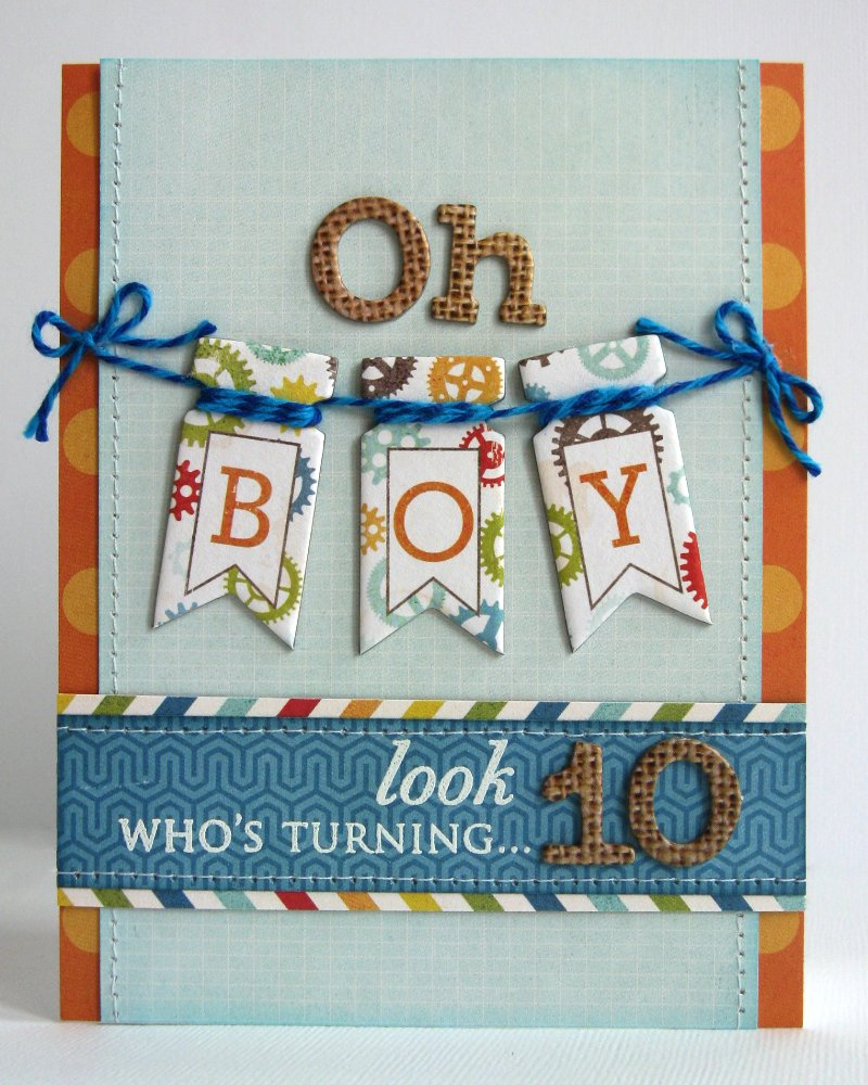 Snippets By Mendi An Echo Park All About A Boy Birthday Card – Boy Birthday Cards