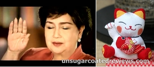 Susan Roces looks like Maneki Neko in her Ritemed commercial