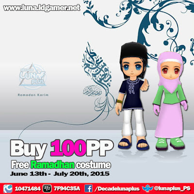 Ramadhan Costume Decade luna plus Private server