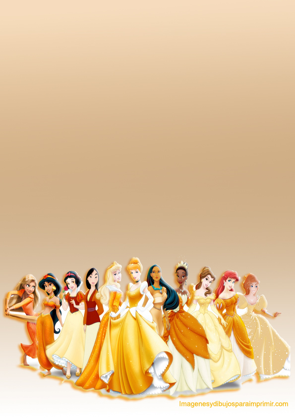 Disney princess printable paper