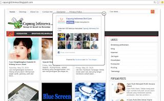 Cara Membuat Like Box Fanspage Facebook Melayang di Blog,fanspage melayang diblog,membuat like fanspage melayang