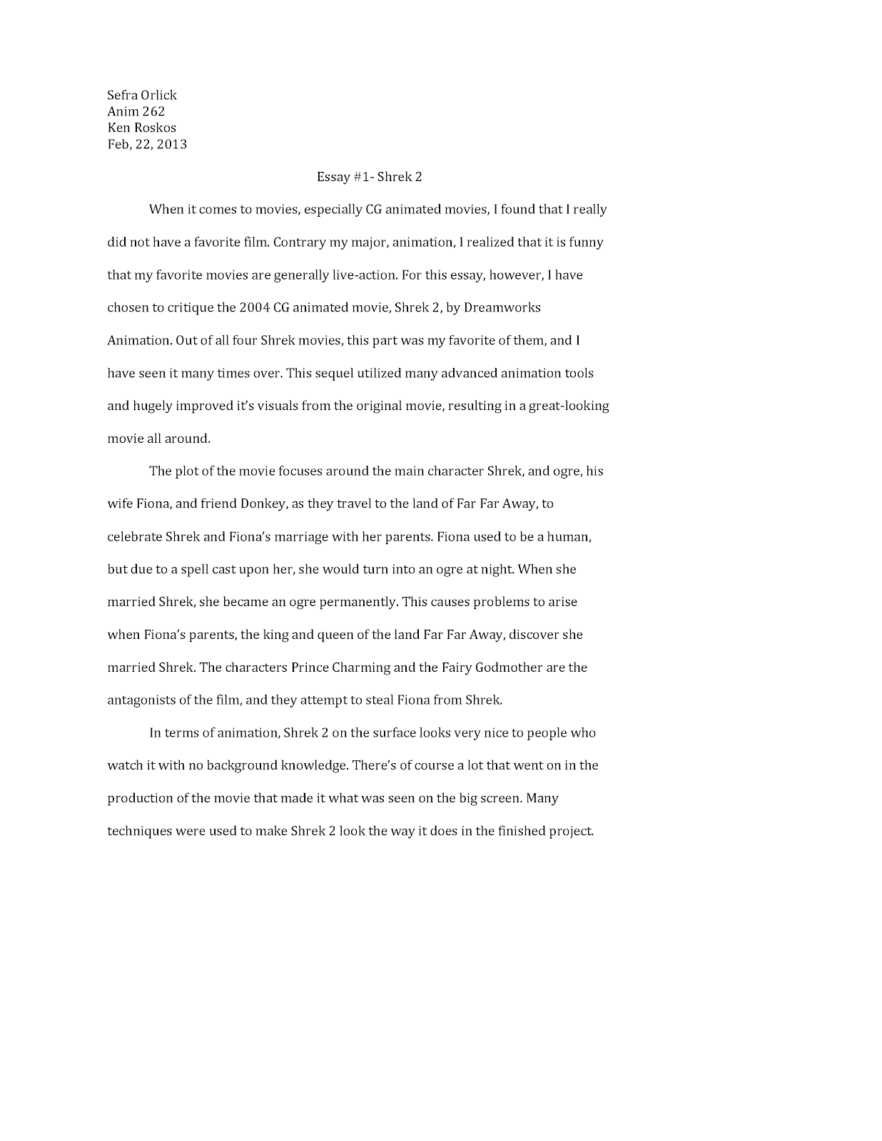 my favorite movie essay d computer animation my favorite movie  d computer animation updated essay