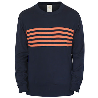 gant by michael bastian striped crew neck sweater ss14