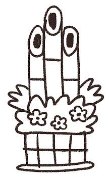 門松のイラスト(お正月) 線画