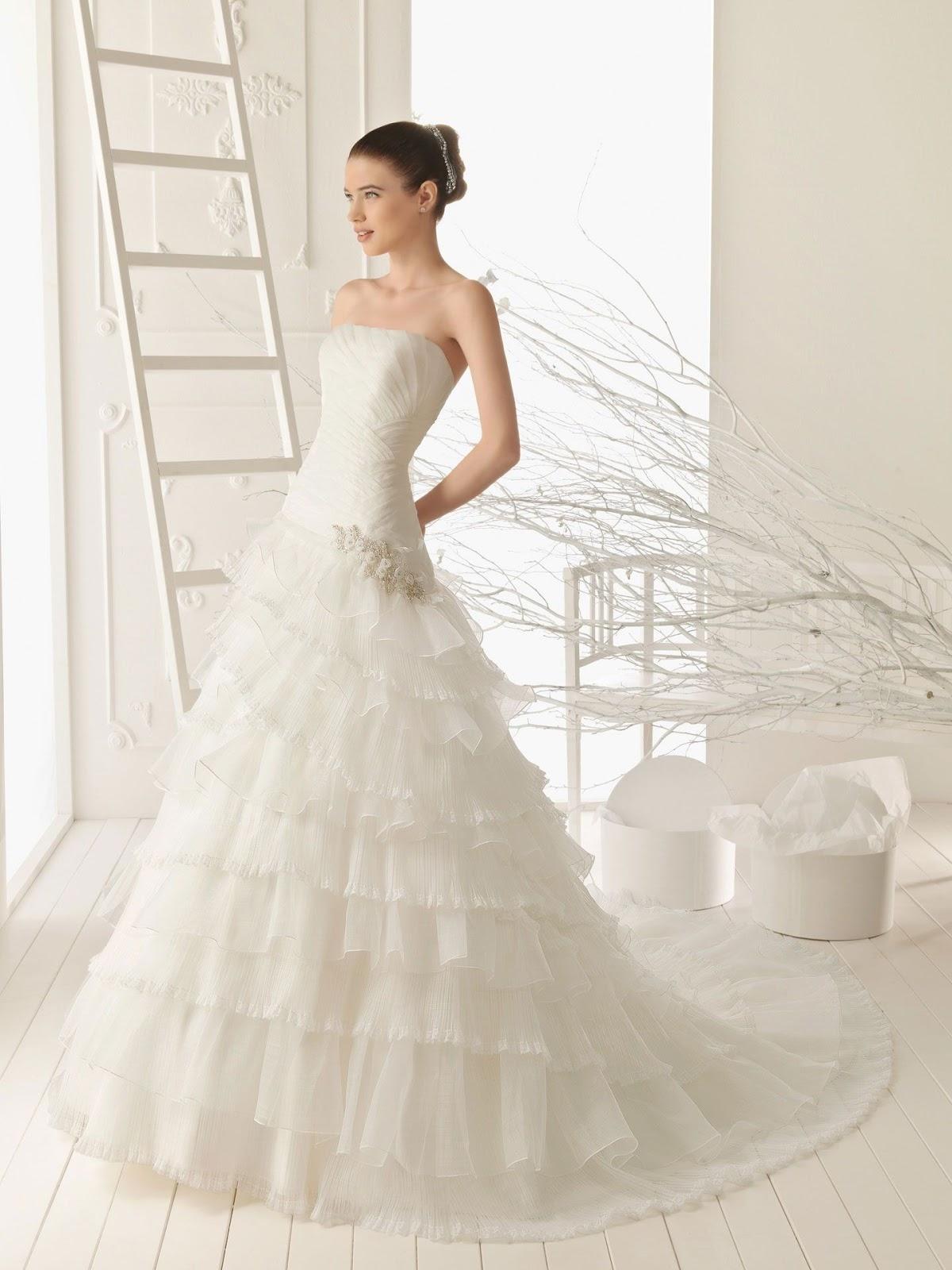 Tidebuy for A line ruffle wedding dress