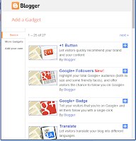 Add a Gadget in Blogger Blog