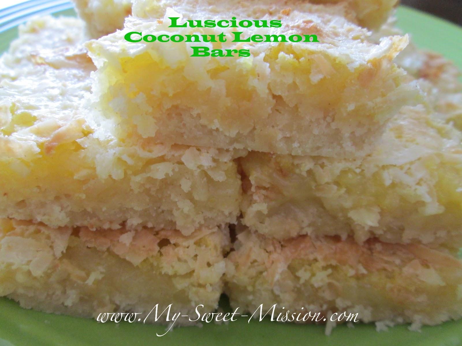 Luscious Coconut Lemon Bars
