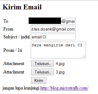 how to send html email in codeigniter