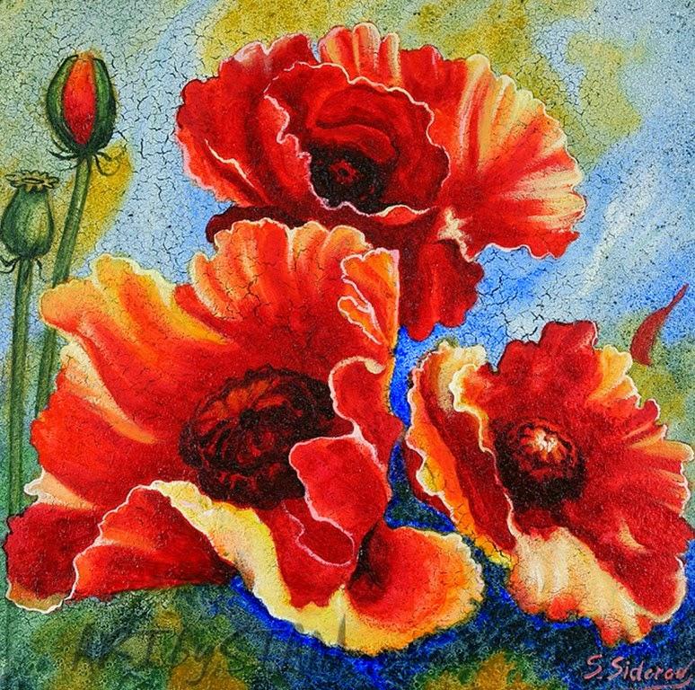 pinturas-flores-modernas-con-espatula